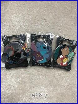 WDI MOG Disney profile pin Lilo Stitch Gantu set of 3 LE 250 New heroes heroines