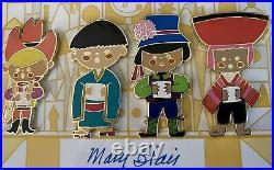 WDI Mary Blair SMALL WORLD 40th ANNIVERSASY Pin Set 24 LE 300 MOC