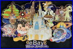 WDW 2006 4 Park Super Jumbo Pin Collection (Magic Kingdom) Boxed PIN PP #48255