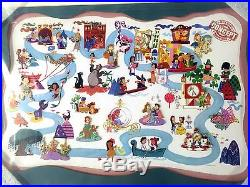WDW Disney Framed 9 Pin Set It's A Small World A Magical Transformation LE 300