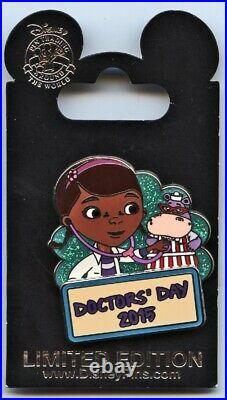 WDW & Disneyland 2015 Doctor's Day Pin Doc McStuffins & Hallie Pin