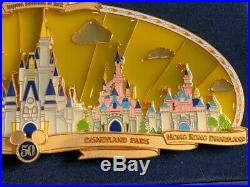 WDW Happiest Celebration On Earth Disney Park Castles Super Jumbo Pin NIB LE