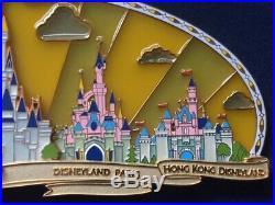 WDW Happiest Celebration On Earth Disney Theme Park Castles Super Jumbo Pin