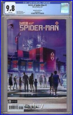 W. E. B. Of Spider-man 1 Cgc 9.8 Matuszak Disney Theme Park Variant