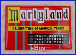 Walt DISNEY Imagineering Legend MARTY SKLAR Retirement Button MARTYLAND WDI HTF