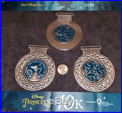 Walt Disney 2018 fairy tale challenge 4 finisher medals 2 spinners beautiful
