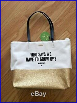 Walt Disney Quote Kid At Heart Why Grow Up Glitter Kate Spade Parks Purse Tote
