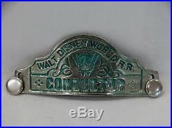 Walt Disney Railroad Cast Member Rr Conductor Hat Badge Rare