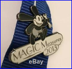 Walt Disney Travel Center 2013 Magic Measures Cast Member Pin Set on Lanyard