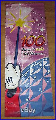 Walt Disney World 100 Years Magic Theme Park Banner Prop Hang Sign Epcot