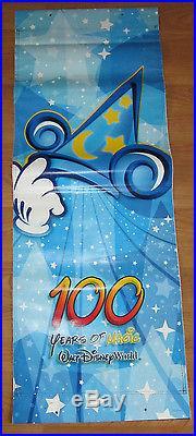 Walt Disney World 100 Years Magic Theme Park Banner Prop Hang Sign MGM Studios