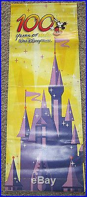 Walt Disney World 100 Years Magic Theme Park Banner Prop Hang Sign Magic Kingdom