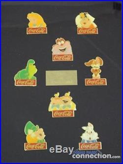 Walt Disney World 15th Anniversary COCA-COLA Coke EPCOT Pirate Framed 60 Pin Set
