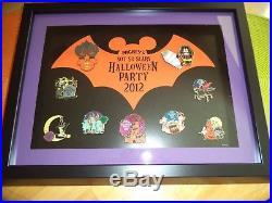 Walt Disney World 2012 Not SO Scary Halloween Framed Pin Set