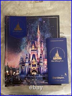 Walt Disney World 50th Anniversary Theme Park Commemorative Poster & Map Oct 1st