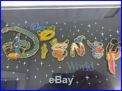 Walt Disney World 6 Pin Set Picture Framed Letters Steve Zollman OE COV COA