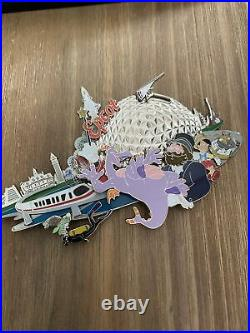 Walt Disney World Epcot Four Park Super Jumbo Collection Pin LE 1000 Figment WDW