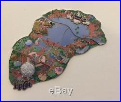 Walt Disney World Epcot Spaceship Earth Showcase Cast Atlas Map Pin Puzzle Set