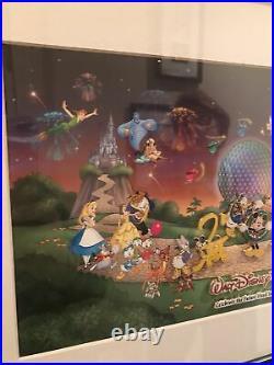 Walt Disney World Framed Millennium 2000 Limited Edition Pin Set 380/1500