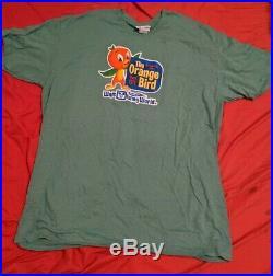 Walt Disney World Orange Bird Since 1971 Florida Shirt SizeXL Green Citrus Swirl