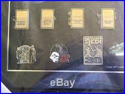 Walt Disney World Star Wars Weekend Framed Pin Trading Set Art
