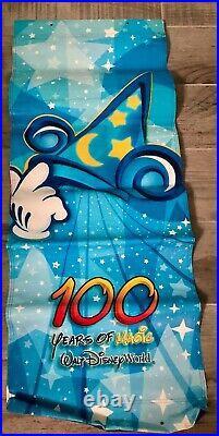 Walt Disney World Theme Park 100 Years of Magic Vinyl Banner Set NEW Never Used