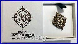 Walt Disney World WDW Club 33 EXCLUSIVE Spotlight Lounge Pin RARE