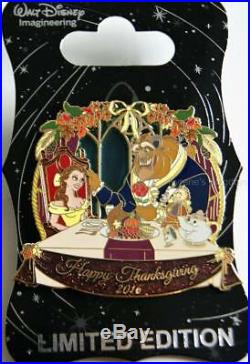 Wdi D23 Disney Beauty And The Beast Thanksgiving 2016 Belle Potts Chip Pin Le250