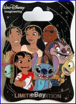 Wdi D23 Disney Lilo & Stitch Character Cluster Scrump Nani Jumba Pin Le 250