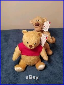 Winnie The Pooh Plush Set Disney Christopher Robin Theme Parks authentic NWT